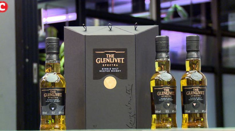 The Glenlivet distillery hosts an immersive journey through its new Spectra three mystery whiskies.