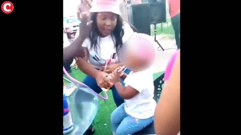 Twitter users furious over shocking video of a toddler smoking and drinking
