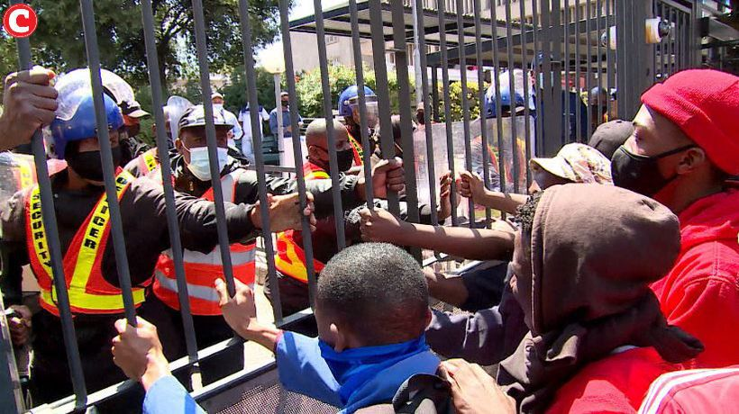 Angry Wits students protest over debt exclusion