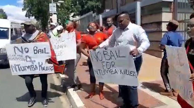 EFF supporters picket outside Johannesburg magistrates court