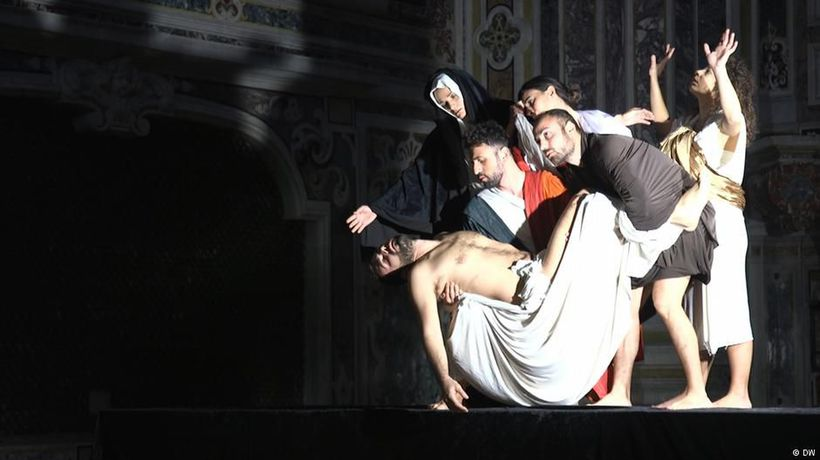Caravaggio paintings live on stage