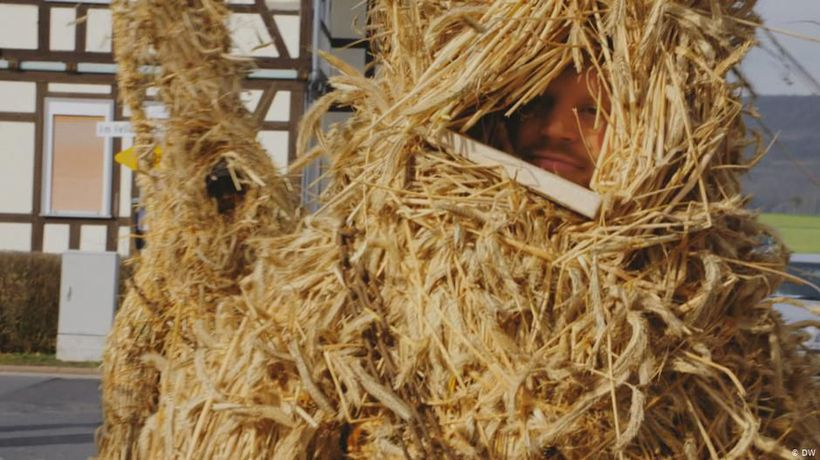 Wrapped from Head to Toe in Straw