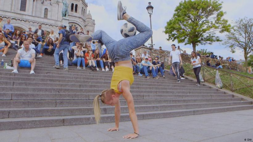 Freestyle footballer Melody Donchet