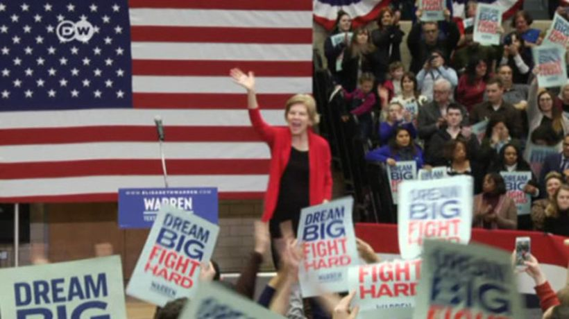 Warren stresses working-class background
