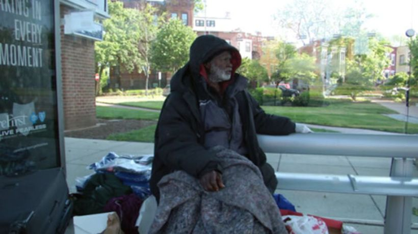Coronavirus presents challenge to homeless people in US