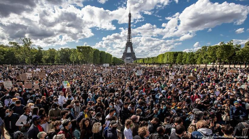 Anti-racism demonstrations in France