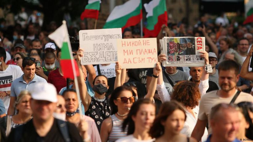 Protests against corruption in Bulgaria