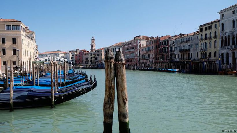 Venice's high season: all dried up