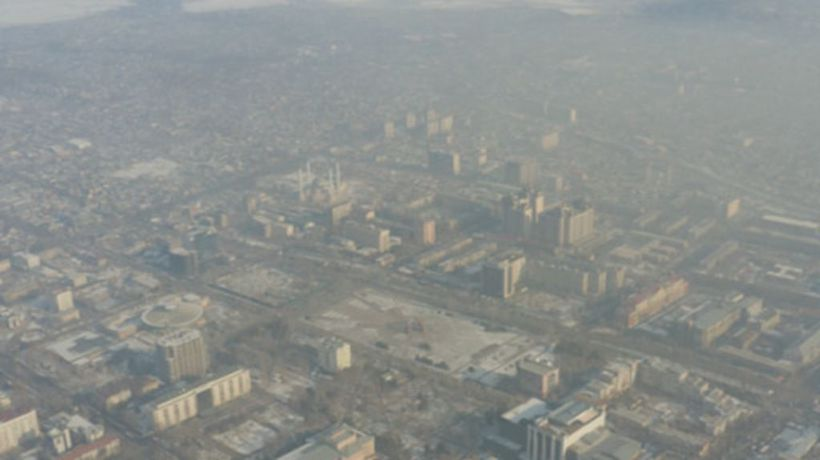 Kyrgyz capital, Bishkek, suffers record winter smog