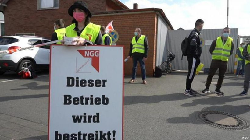 A labor dispute in Germany's meat industry