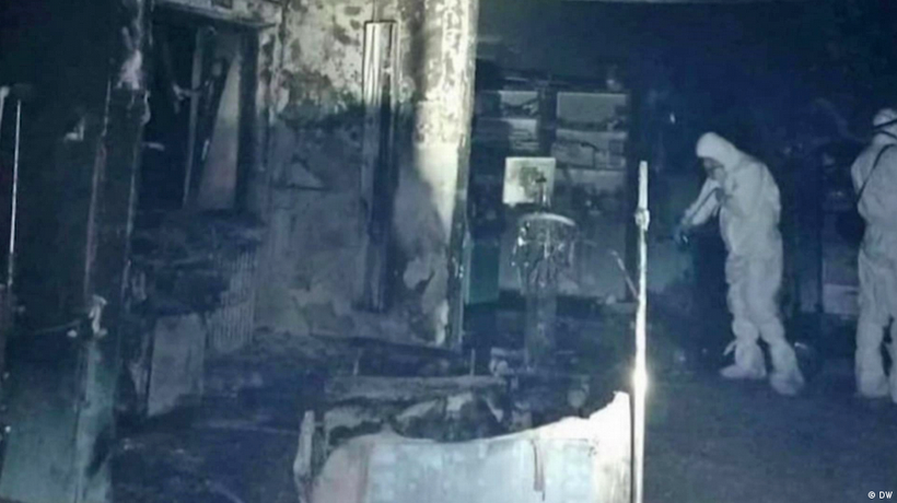 Hospital fires in Romania