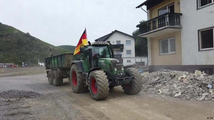 Germany: Tractor driver in the Ahr valley