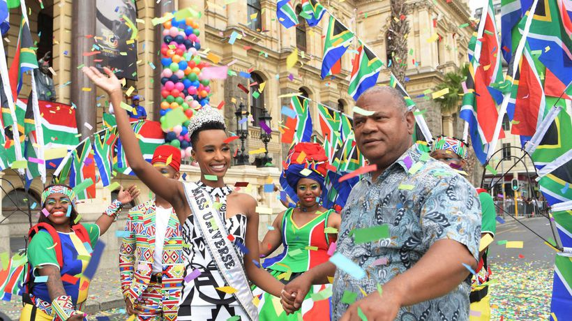 Miss Universe takes her crown to the people