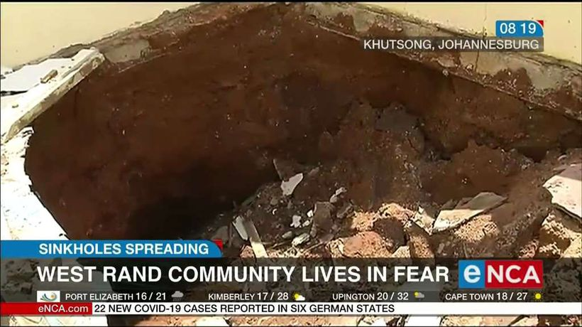 Sinkholes Spreading: West Rand community lives in fear