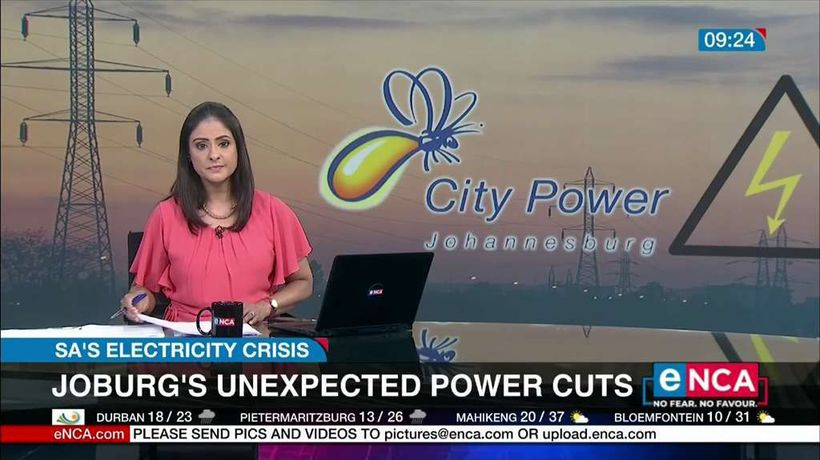 Joburg unexpected power cuts due to theft and vandalism