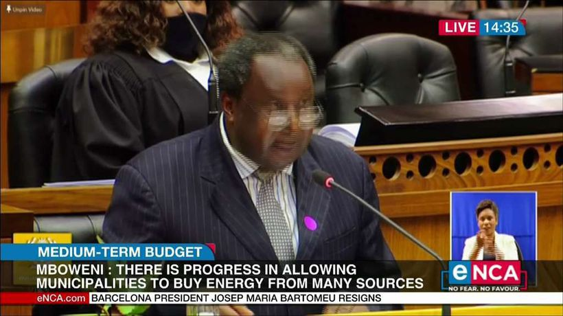 Mboweni says Govt borrowing at a rate of 2.1 bn a day