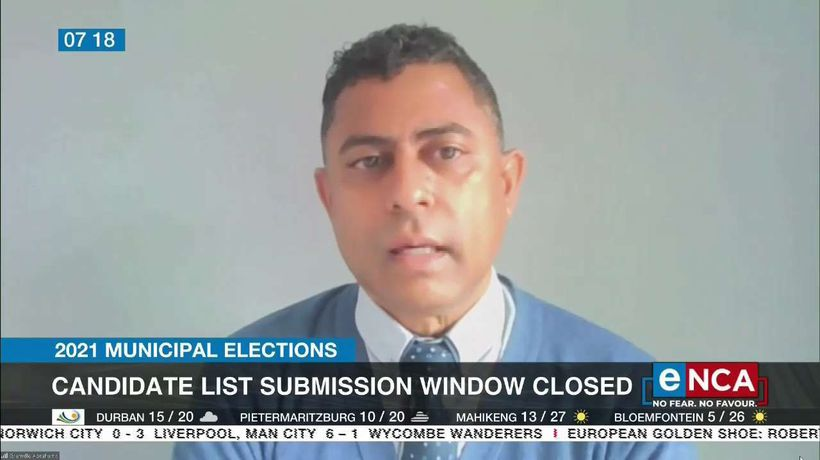 Window for candidates list submission closes
