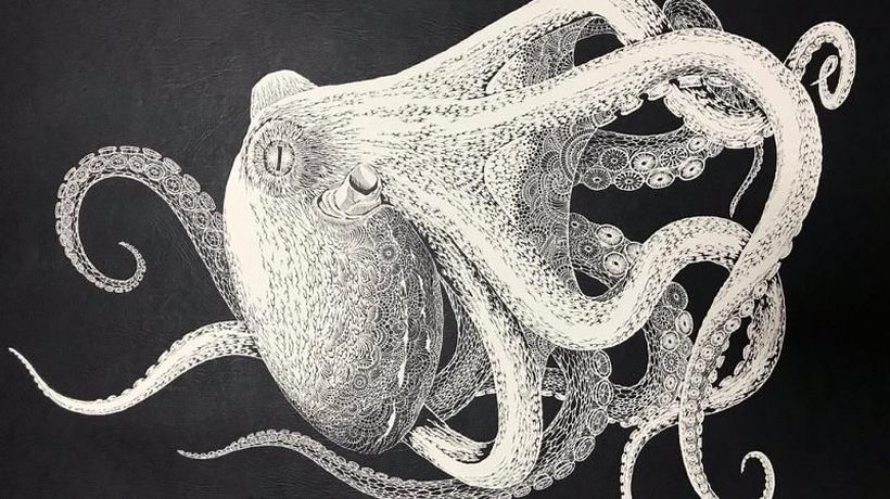 World News - Watch: This beautiful octopus was cut out of a single piece of paper