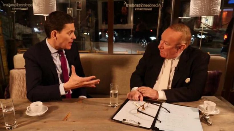 The Global Conversation - Are we witnessing the death of the centre left in today's Europe? Andrew Neil asks David Miliband