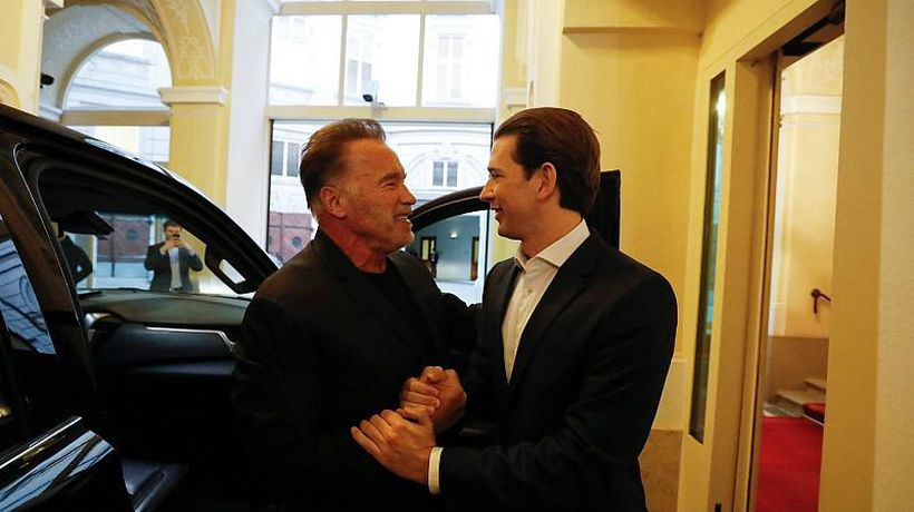 World News - Arnold Schwarzenegger meets Austrian chancellor for talks ahead of climate change summit