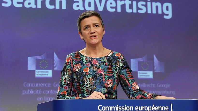 World News - EU hits Google with €1.49bn fine for 'blocking rival search engines'