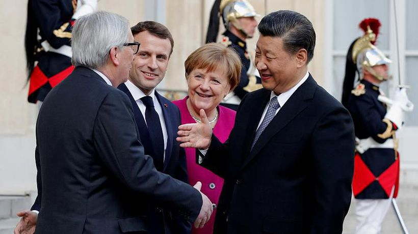 World News - Macron invites Merkel and Juncker for meeting with China's Xi Jinping