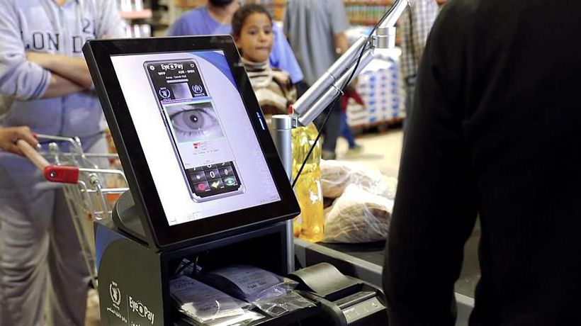 Inspire Middle East - Refugees in Jordan are buying groceries with eye scans