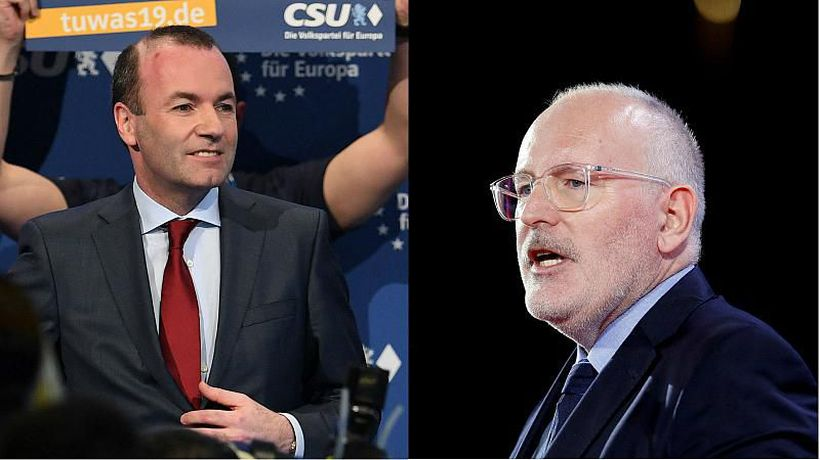 World News - European elections 2019: Weber and Timmermans in TV debate as the race for EU's top job heats up