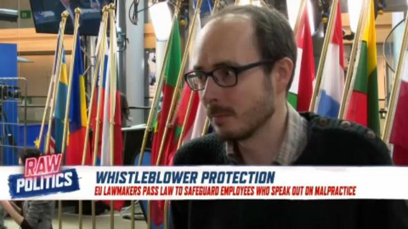 Raw Politics - EU extends new judicial protections for whistleblowers