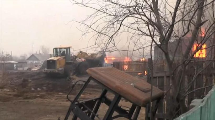 World News - At least 25 hurt in Russia as wildfires tear through villages in Siberia