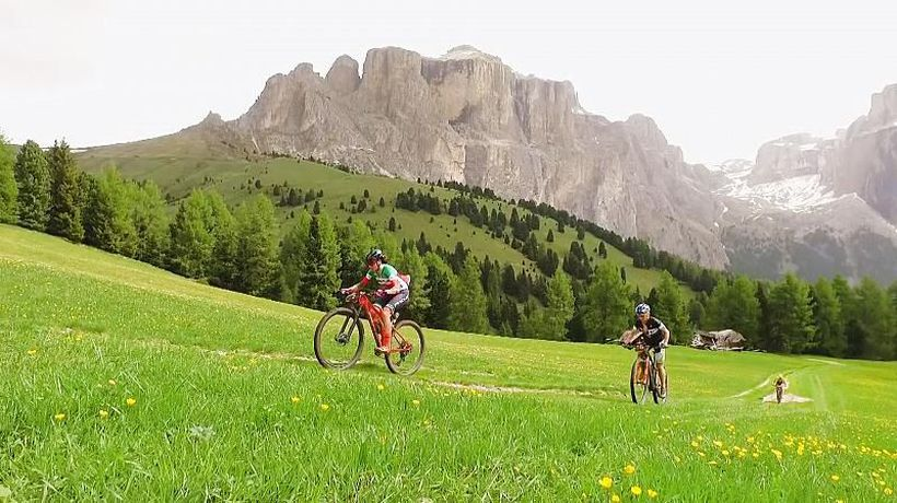 Watch: World's toughest bike marathon riders tackle snowy peaks