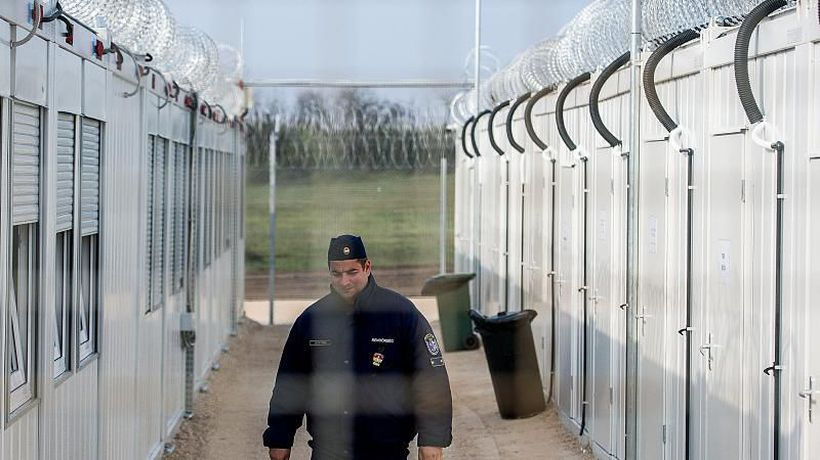 Pregnant migrant in Hungary 'given 17-guard escort to check-up'