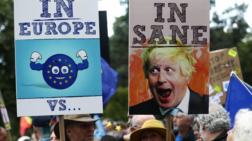 Pro-EU protesters hold rally in London