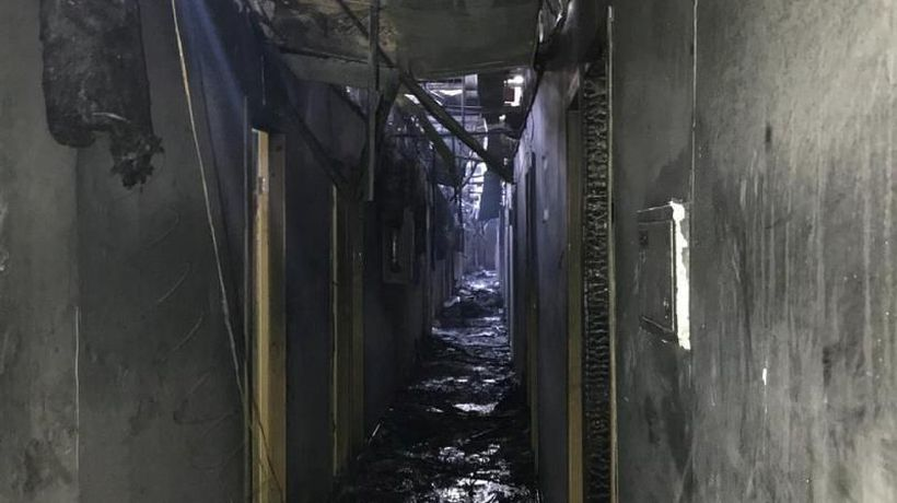 Ukraine hotel fire: Eight people killed in blaze at Tokyo Star in Odessa