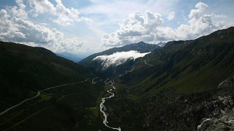 Watch: River of clouds descends on Alpine valley