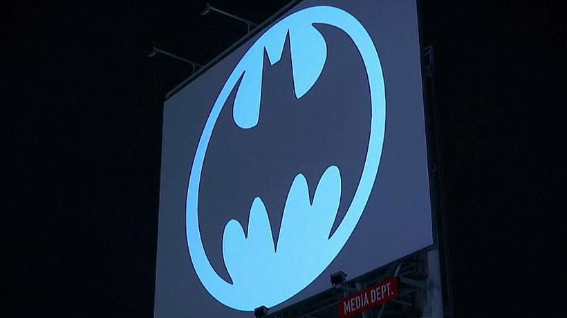 Watch: Batman symbol beamed into sky as caped crusader turns 80