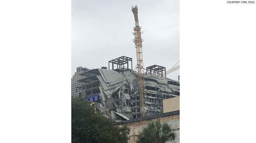 Partial building collapse at Hard Rock Hotel in New Orleans kills one and hospitalises 18