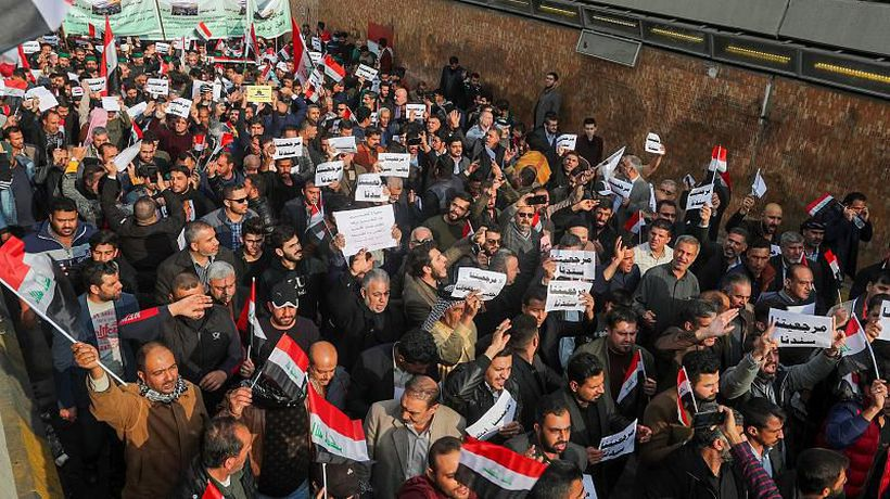 Protesters killed in Iraq hours after US sanctions Iraqi militia leaders