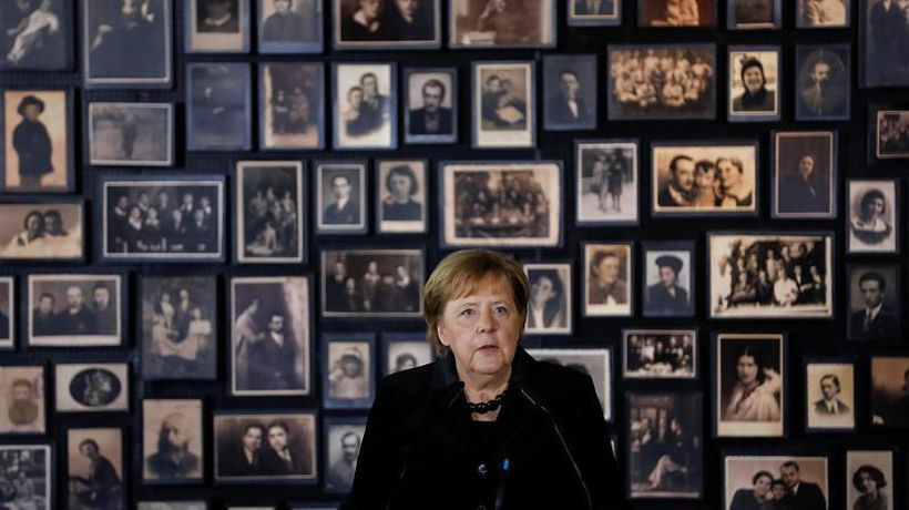 Merkel visits Auschwitz memorial for the first time after 14 years as Germany's Chancellor