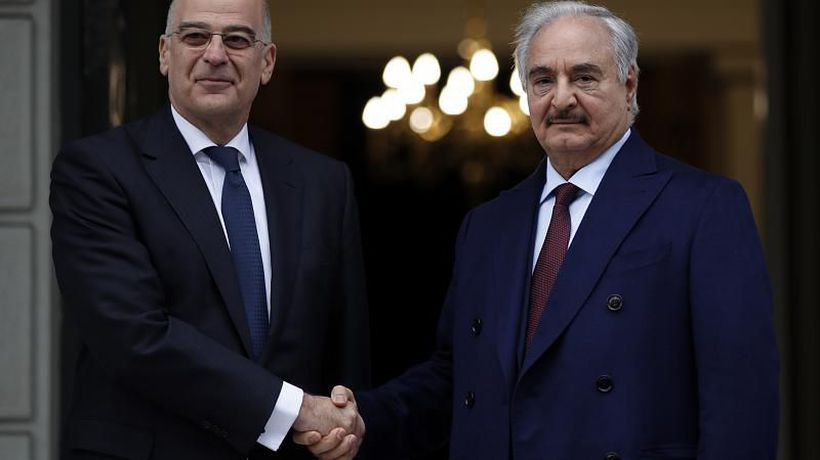 Libya's Haftar holds talks in Athens ahead of Berlin summit