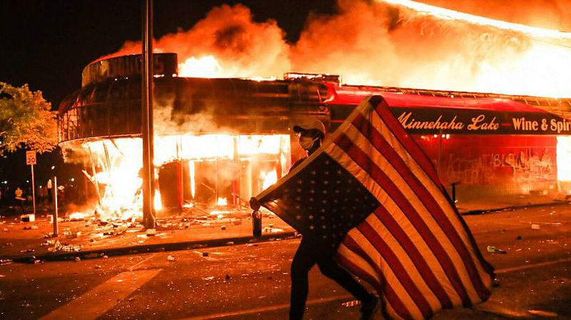 Unrest over George Floyd killing: 'Is this the end of the American dream?'