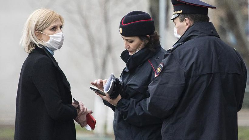 Coronavirus: Russia's tracking app sparks fury after mistakenly fining users