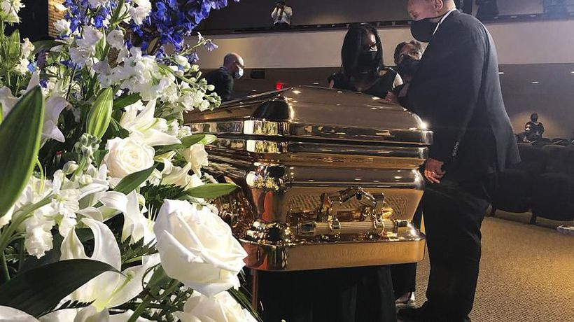 'Get your knee off our necks!': George Floyd mourned in Minneapolis