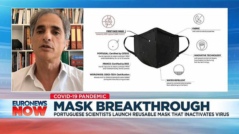 Scientists in Portugal create reusable mask that 'inactivates' coronavirus
