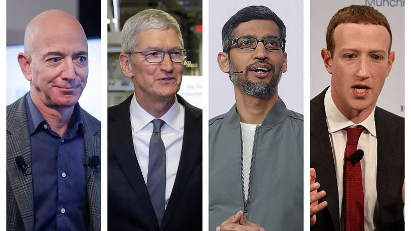 Top tech CEOs Facebook, Amazon, Google and Apple told they 'have too much power'