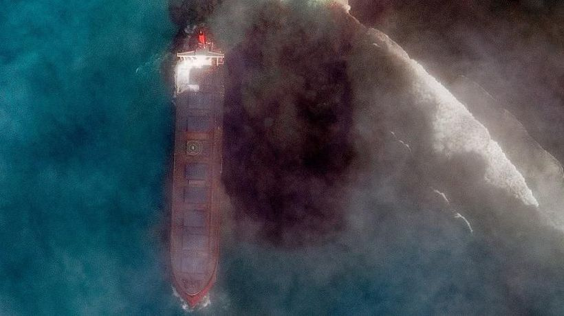 Mauritius declares state of environmental emergency after oil leak from stranded ship