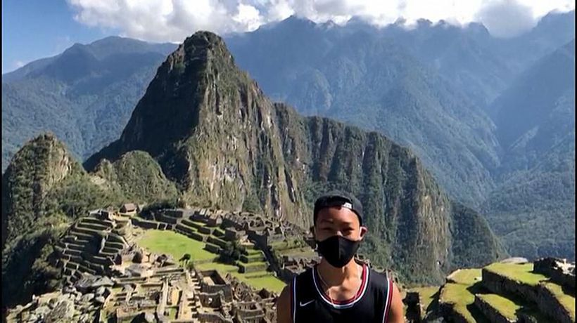 A Japanese tourist has become the first person to visit Machu Picchu since Peru closed it borders