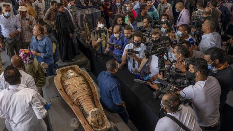 Watch: Archaeologists find at least 100 coffins from Egypt's Ptolemaic dynasty