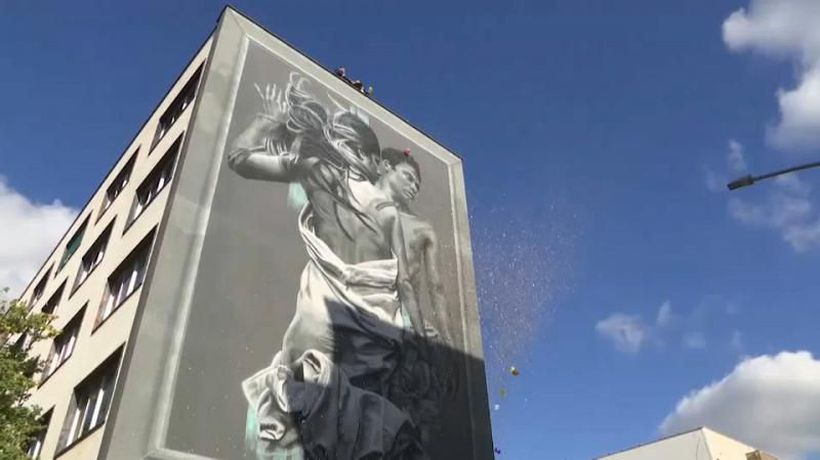 'Green' LGBTQ mural created with 'polution-eating' paint unveiled in Rome