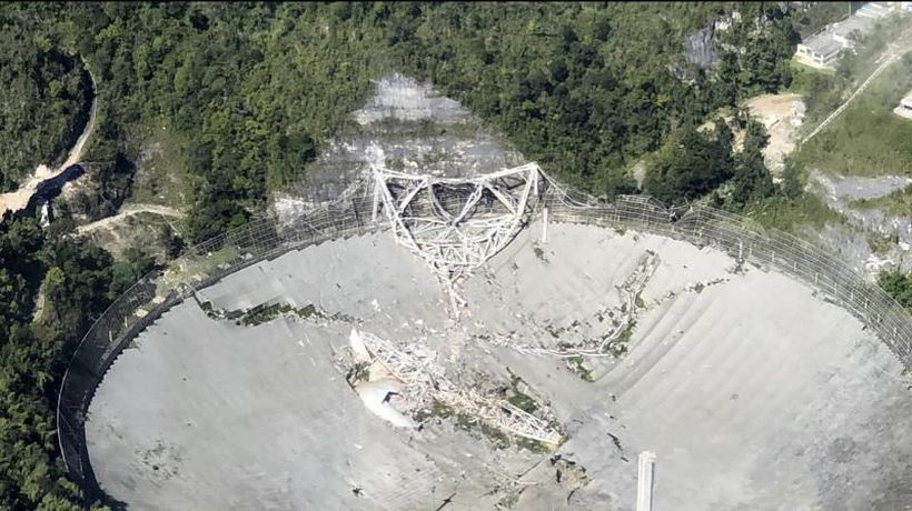 Watch: Enormous radio telescope, featured in Hollywood films, collapses in Puerto Rico